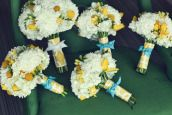 cool fabric to wrap around bouquet