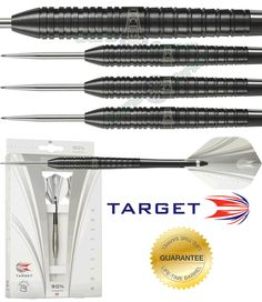 Target Darts - 25g Steel Tip Tungsten Darts - Target - Precision Black - Pioneer - 25g - http://www.dartscorner.co.uk/product_info.php?cPath=9_217_222&products_id=37220
