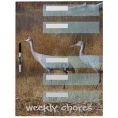Sandhill Cranes Weekly Chores Dry Erase Board $43.95