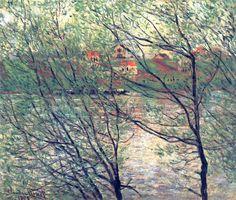 Seacoast at Saint-Adresse, Sunset, 1864 by Claude Monet. Impressionism. landscape