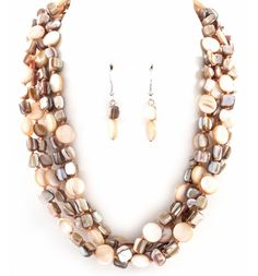 Champagne Mother of Pearl Necklace