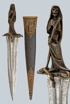 """viktor-sbor: """"A rare dagger for esoteric rituals, dating: Century, provenance: France """" Ninja Weapons, Sci Fi Weapons, Medieval Weapons, Weapons Guns, Fantasy Weapons, Pretty Knives, Cool Knives, Swords And Daggers, Knives And Swords"""