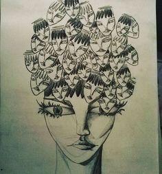 #drawing#visage