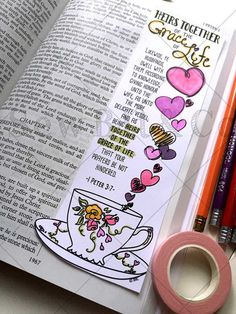 Bible Journaling Bible Verse Art Bible Verse Print by SewBitandCo