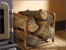 DIY Inspire: use copper pipes to make a rustic chic, super simple log holder (inexpensive too!)