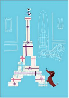 :) A great poster reflecting three of my loves - Harvey my dachshund, shopping and the eiffel tower. Fantastic!