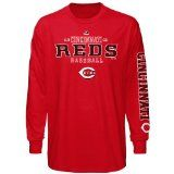 Cincinnati Reds Red Majestic Charge The Mound Long Sleeve T-Shirt - http://www.redsball.com/cincinnati-reds-gear/cincinnati-reds-red-majestic-charge-the-mound-long-sleeve-t-shirt-2/