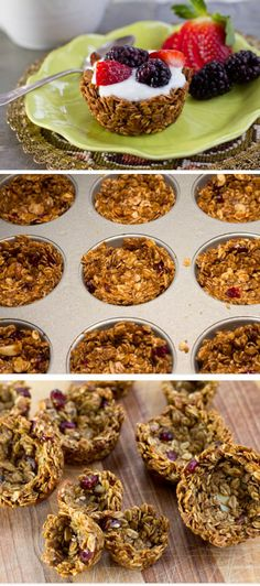 Granola Cups   Click Pic for 25 Easy Mothers Day Breakfast in Bed Ideas   Homemade Brunch Ideas for a Crowd http://handcrafted.win/