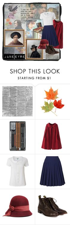"""""""jane eyre"""" by retrorose ❤ liked on Polyvore featuring Chicnova Fashion, White Stuff, Orla Kiely, Brooks Brothers and F-Troupe"""