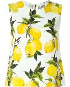Dolce and Gabbana Lemon Print Tank