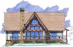Lake Lure Lodge Front Elevation -- Natural Element Homes. Love love love