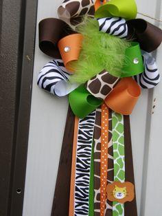 safari party baby shower corsagesafari baby shower by bonbow, $19.99
