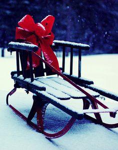 snowy photography for christmas spirit - Christmas Sled