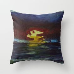 Blue Moon Throw Pillow by N.JanettaThornhill | Society6