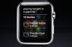 Siri function on the Apple Watch