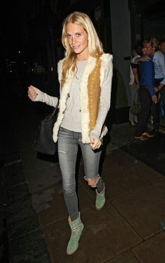Country chic look. Poppy delevigne