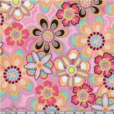 Michael Miller Flower Crystals Pink