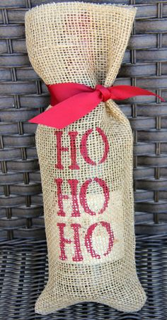 Holiday Wine Bags on Etsy, $7.00