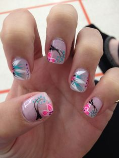 spring nails :) | See more nail designs at http://www.nailsss.com/nail-styles-2014/2/