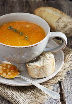 Hearty Bean with Bacon Soup - and you don't need to pre-soak the beans! | Seasons and Suppers