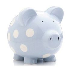Blue Polka Dot Piggy Bank! <3