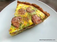 Bacon, Sausage & Egg Pie  @Things My Belly Likes