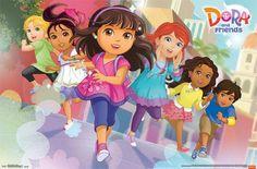 """Dora & Friends - Running kids cartoon tv show wall poster art print affiliate  34"""" x 22"""""""