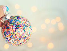 Sprinkles glass ornament. Bold and fun! #Christmas