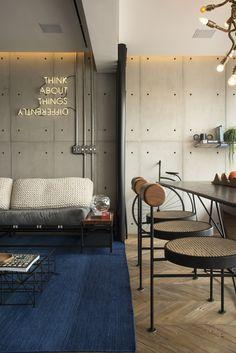 Apartamento de 50 m² é reformado e possui decoração contemporânea. Confira no link imagens! (Foto: Romulo Fialdini/ Divulgação) #apartamento #apartment #decor #decoração #decoration #casavogue