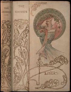 The Chimes, a Goblin story by Charles Dickens. Cover by Alphonse Mucha. Published by Henry Altemus & Co, Petit Trianon Series, ca.1901 | Expired Ebay listing