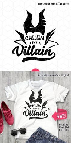 Things for Andee to Make workout plans printable - Workout Plans Disney Shirts, Disney Outfits, Disney Villain Shirt, Disney Halloween Shirts, Halloween Vinyl, Halloween Witches, Halloween Projects, Disney Villains, Silhouette Cameo Projects