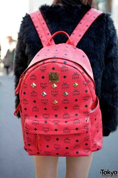 fbc291a3718d Pink MCM backpack Pink Mcm Backpack