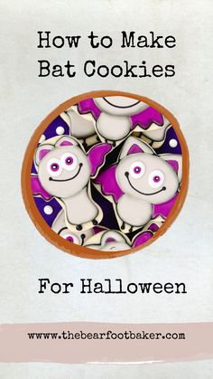 These silly bat cookies make a great Halloween treat! Halloween cookies like these bat cookies are customizable and work for any event! #thebearfootbaker #batcookies #halloweencookies