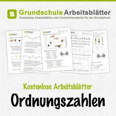 Kostenlose Arbeitsblätter und Unterrichtsmaterial zum Thema Ordnungszahlen im Mathe-Unterricht in der Grundschule.