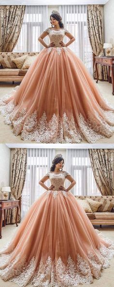 Romantic Princess Style Lace Embroidery Off The Shoulder Tulle Ball Gowns Quinceanera Dresses 2018