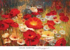 オールポスターズの ルカス・サンティーニ「Meadow Poppies I」ポスター