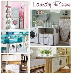 Laundry Room: come organizzare la lavanderia Stacked Washer Dryer, Washer And Dryer, Laundry Room, New Homes, Home Appliances, Organization, Home Decor, Google, Houses