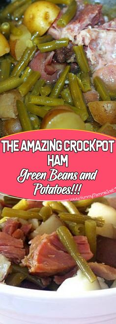 The Amazing Crockpot Ham, Green Beans and Potatoes! Via The Amazing Crockpot Ham, Green Beans and Potatoes! Via crockpot crockpot recipes recipe ideas casserole recipes slow cooker recipes slow cooker Crockpot Dishes, Crock Pot Slow Cooker, Crock Pot Cooking, Pressure Cooker Recipes, Crock Pots, Crockpot Meals, Cooking Turkey, Crockpot Ham And Beans, Cooking Rice