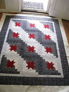 """Gorgeous """"Orion Star"""" quilt. have always wanted to make this pattern. Love this color way."""