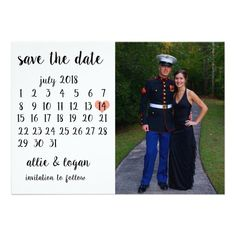 Calendar Photo Save the Date Card