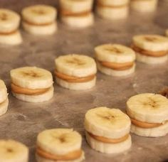 Healthy snack- peanut butter and honey banana bites