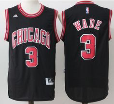 028ee704a9aa Bulls  3 Dwyane Wade Black Stitched NBA Jersey Cycling Clothing