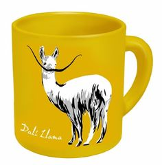 This Dali Llama. 23 Things You Need If You're Obsessed With Llamas My Coffee, Coffee Cups, Tea Cups, Funny Coffee, Coffee Break, Alpacas, Llama Alpaca, Mellow Yellow, Mug Cup