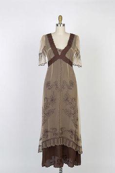 Nataya 40007 Titanic Dress in Milk Coffee www.RomanceOfYesteryear.com