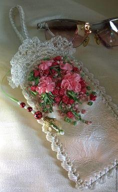 Купить Чехол для очков . - розовый, цветочный, Чехол для очков, чехол для…
