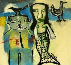 Mermaid Dream Outsider T Marie Nolan Raw Folk Art Brut Original Painting | eBay