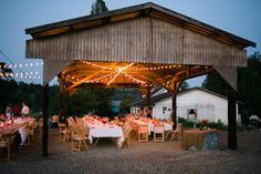outdoor diy wedding receptions | Rustic Summer Wedding at a Working Family Farm in Washington State ...