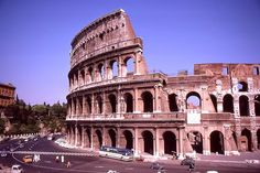 Colosseum, Rome- Color Photos of Italy in 1969
