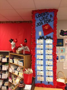 """Job Chart in a Superhero Classroom:  """"It looks like a job for...!""""  (Creative Common Core Content Blog)"""