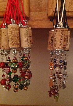 Wine by whatsnextdesign Wine Craft, Wine Cork Crafts, Bottle Crafts, Wine Cork Jewelry, Wine Cork Art, Wine Corks, Wine Bottle Charms, Wine Bottles, Wine Cork Ornaments
